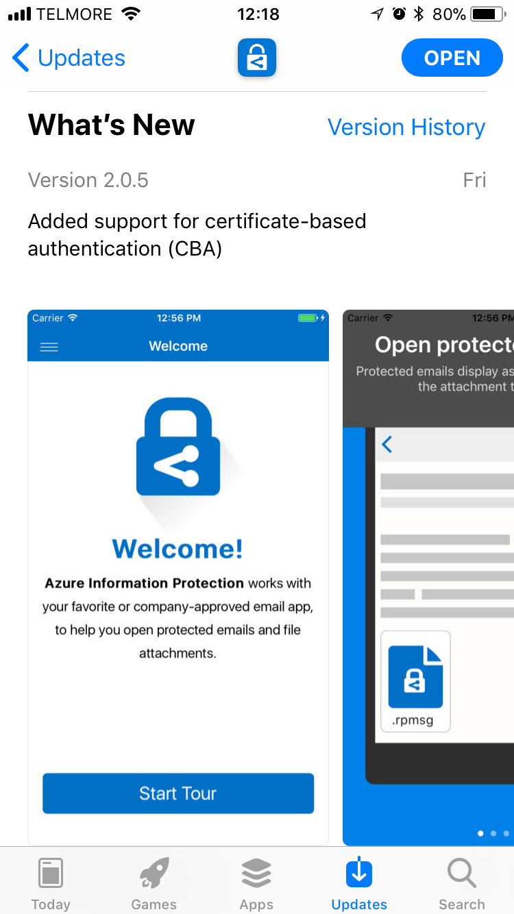 Microsoft azure information protection app now support cba the share this xflitez Gallery
