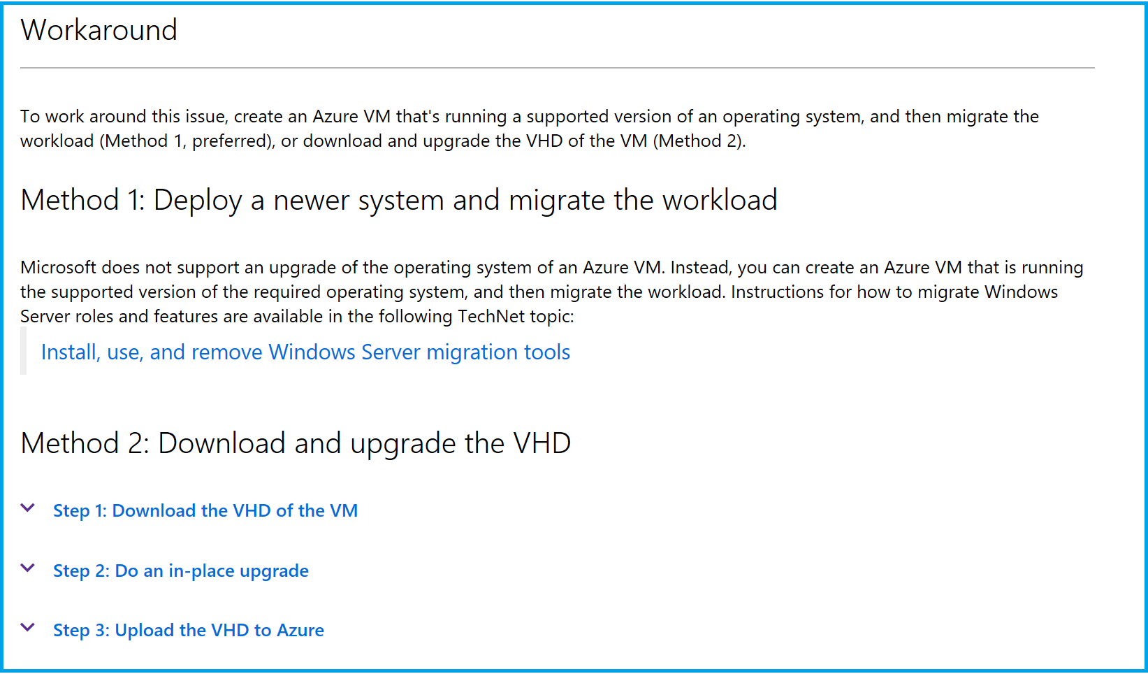 Upgrading Azure Virtual Machine from Windows Server 2012 R2